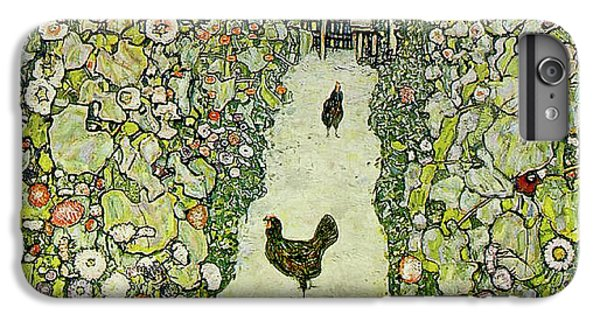 Garden With Chickens IPhone 6s Plus Case by Gustav Klimt