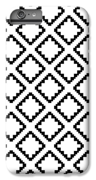 Geometricsquaresdiamondpattern IPhone 6s Plus Case by Rachel Follett