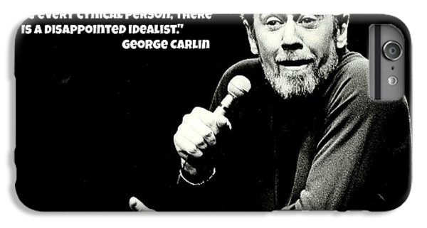 Johnny Carson iPhone 6s Plus Case - George Carlin Art  by Pd