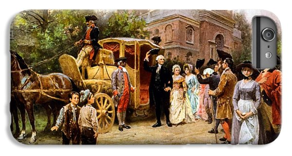 George Washington iPhone 6s Plus Case - George Washington Arriving At Christ Church by War Is Hell Store