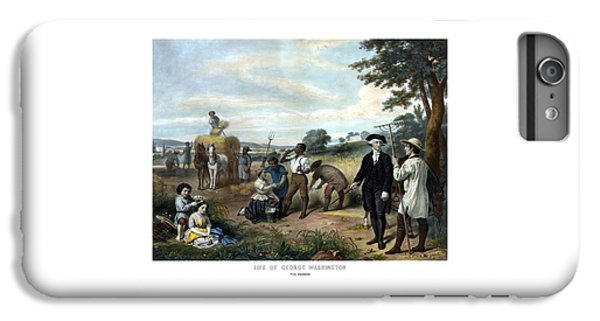 George Washington iPhone 6s Plus Case - George Washington The Farmer by War Is Hell Store