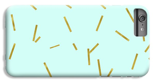 Glitter Confetti On Aqua Gold Pick Up Sticks Pattern IPhone 6s Plus Case