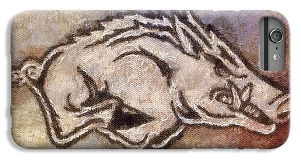 University Of Arkansas iPhone 6s Plus Case - Go Hogs Go  by Dawn Bearden