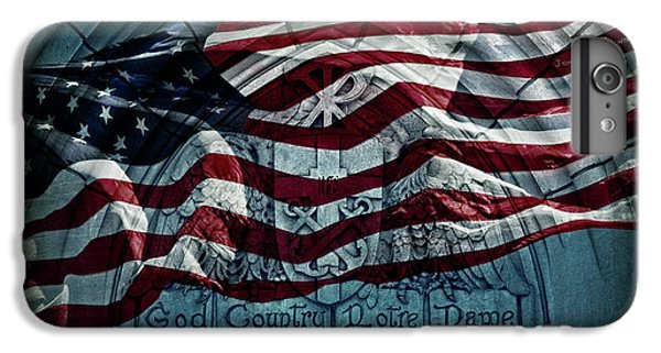 God Country Notre Dame American Flag IPhone 6s Plus Case by John Stephens