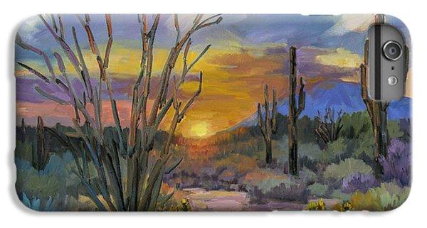 Desert Sunset iPhone 6s Plus Case - God's Day - Sonoran Desert by Diane McClary