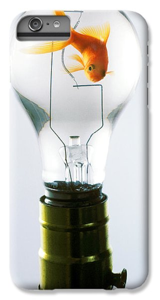Goldfish In Light Bulb  IPhone 6s Plus Case by Garry Gay