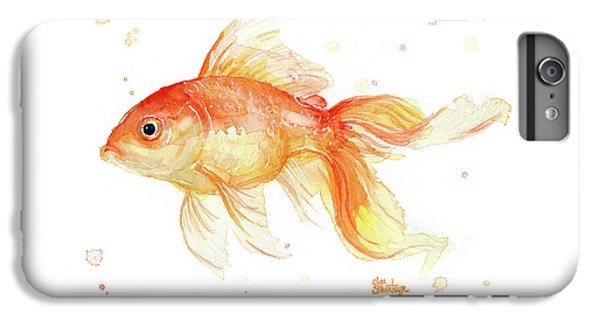 Goldfish Painting Watercolor IPhone 6s Plus Case by Olga Shvartsur