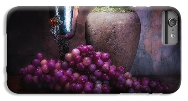 Grapes And Silver Goblet IPhone 6s Plus Case by Tom Mc Nemar