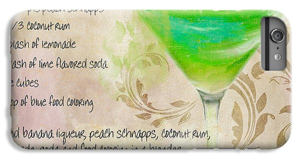 Green Angel Mixed Cocktail Recipe Sign IPhone 6s Plus Case by Mindy Sommers