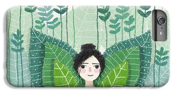 Green IPhone 6s Plus Case by Carolina Parada