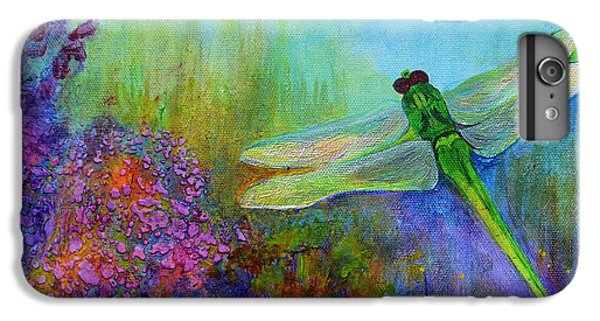 Green Dragonfly IPhone 6s Plus Case by Claire Bull