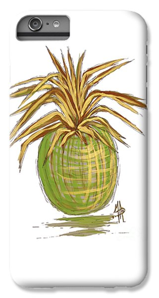 Green Gold Pineapple Painting Illustration Aroon Melane 2015 Collection By Madart IPhone 6s Plus Case by Megan Duncanson