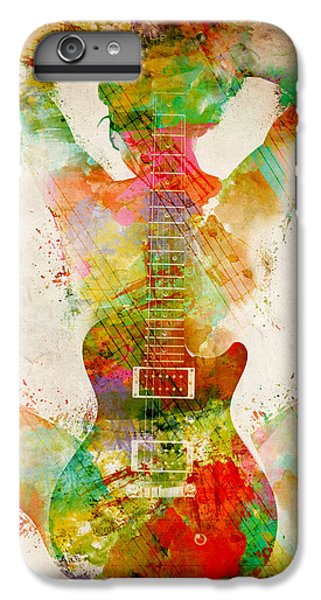 Rock And Roll iPhone 6s Plus Case - Guitar Siren by Nikki Smith