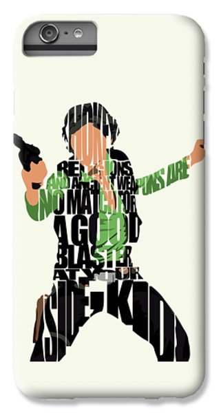 Star iPhone 6s Plus Case - Han Solo From Star Wars by Inspirowl Design