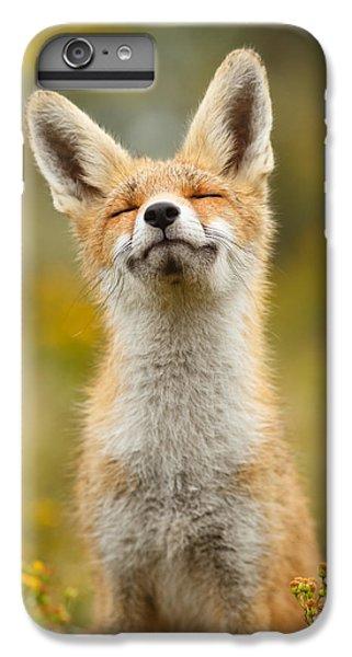 Fox iPhone 6s Plus Case - Happy Fox by Roeselien Raimond