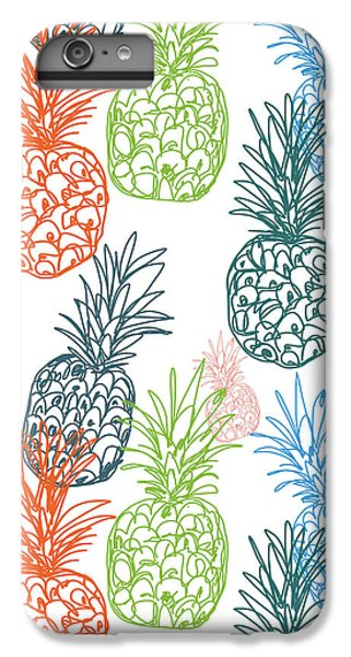 Fruits iPhone 6s Plus Case - Happy Pineapple- Art By Linda Woods by Linda Woods