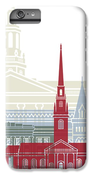 Harvard iPhone 6s Plus Case - Harvard Skyline Poster by Pablo Romero