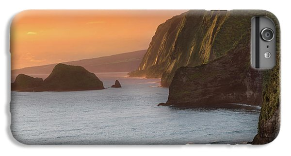 Ocean Sunset iPhone 6s Plus Case - Hawaii Sunrise At The Pololu Valley Lookout 2 by Larry Marshall