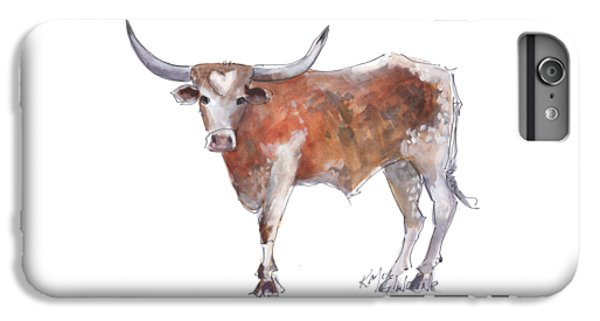 Cow iPhone 6s Plus Case - Heart Of Texas Longhorn by Kathleen McElwaine