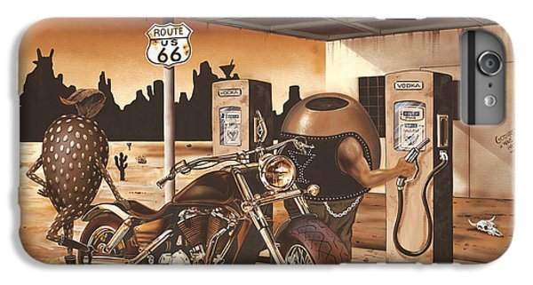 Strawberry iPhone 6s Plus Case - Historic Route 66 by Michael Godard