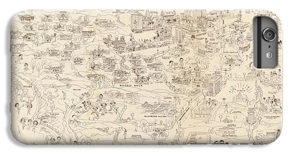 Hollywood Map To The Stars 1937 IPhone 6s Plus Case by Don Boggs