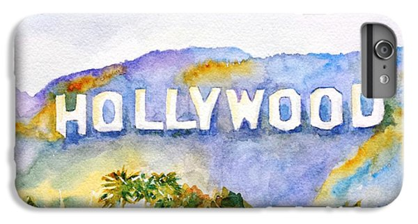 Los Angeles iPhone 6s Plus Case - Hollywood Sign California by Carlin Blahnik CarlinArtWatercolor