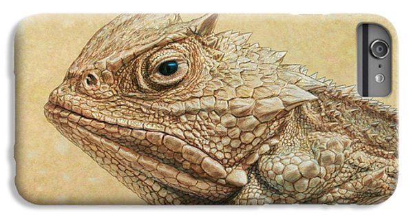 Amphibians iPhone 6s Plus Case - Horned Toad by James W Johnson