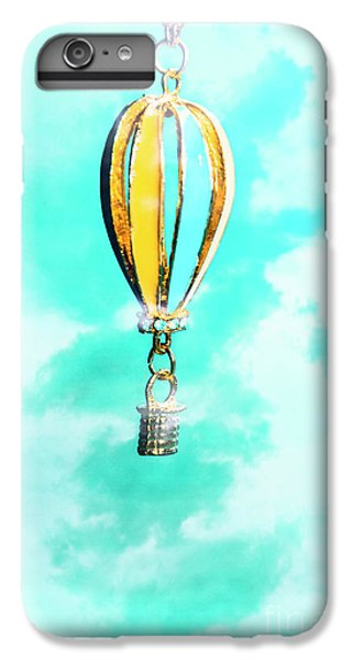 Pendant iPhone 6s Plus Case - Hot Air Balloon Pendant Over Cloudy Background by Jorgo Photography - Wall Art Gallery