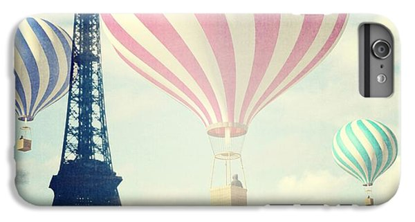 Hot iPhone 6s Plus Case - Hot Air Balloons In Paris by Marianna Mills