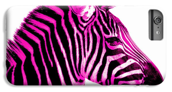 Hot iPhone 6s Plus Case - Hot Pink Zebra by Rebecca Margraf