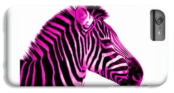 Hot Pink Zebra IPhone 6s Plus Case by Rebecca Margraf