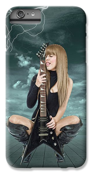 Rock And Roll iPhone 6s Plus Case - I Love Rock And Roll by Smart Aviation