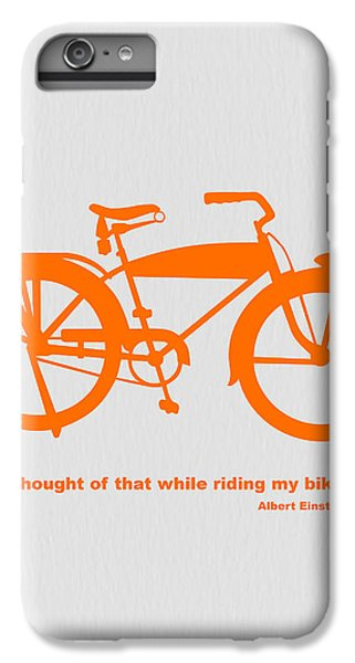 I Thought Of That While Riding My Bike IPhone 6s Plus Case by Naxart Studio