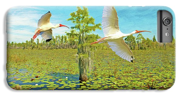 Ibis iPhone 6s Plus Case - Ibis At Okefenokee by Laura D Young