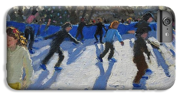 Ice Skaters At Christmas Fayre In Hyde Park  London IPhone 6s Plus Case by Andrew Macara