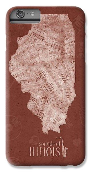 Illinois Map Music Notes 5 IPhone 6s Plus Case