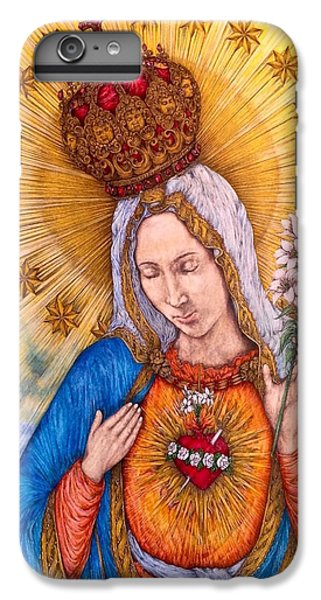 Immaculate Heart Of Virgin Mary IPhone 6s Plus Case by Kent Chua
