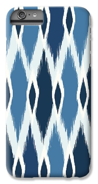 Indigo Ikat IPhone 6s Plus Case by Arte Flora Design Studio