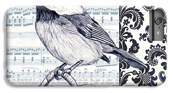Chickadee iPhone 6s Plus Case - Indigo Vintage Songbird 2 by Debbie DeWitt