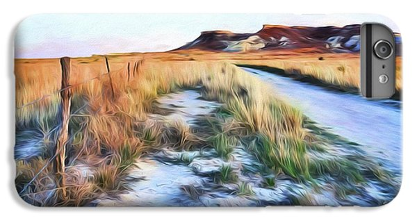 IPhone 6s Plus Case featuring the digital art Into The Kansas Badlands by Tyler Findley
