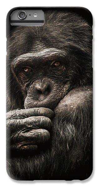 Chimpanzee iPhone 6s Plus Case - Introvert by Paul Neville