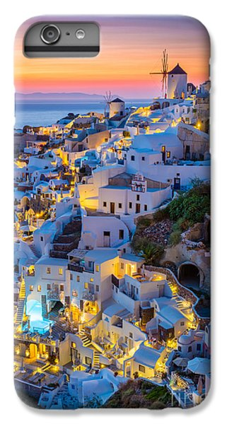 Greece iPhone 6s Plus Case - Oia Sunset by Inge Johnsson