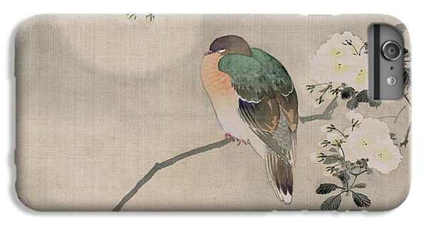 Pigeon iPhone 6s Plus Case - Japanese Silk Painting Of A Wood Pigeon by Japanese School