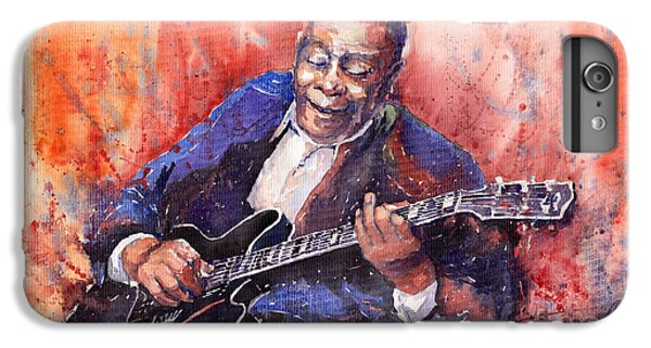 Music iPhone 6s Plus Case - Jazz B B King 06 A by Yuriy Shevchuk