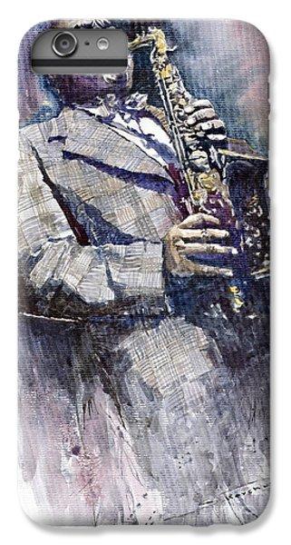 Jazz iPhone 6s Plus Case - Jazz Saxophonist Charlie Parker by Yuriy Shevchuk