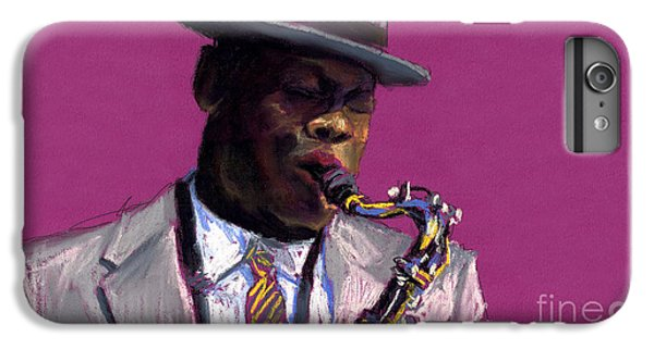 Jazz Saxophonist IPhone 6s Plus Case by Yuriy  Shevchuk