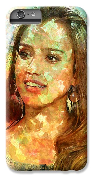 Jessica Alba IPhone 6s Plus Case by Elena Kosvincheva