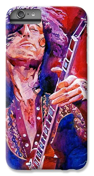 Musicians iPhone 6s Plus Case - Jimmy Page by David Lloyd Glover