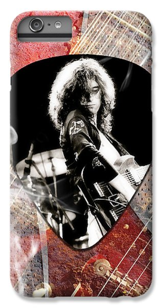 Jimmy Page Led Zeppelin Art IPhone 6s Plus Case by Marvin Blaine