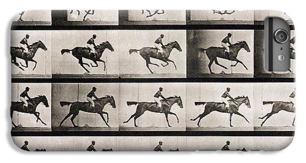 Horse iPhone 6s Plus Case - Jockey On A Galloping Horse by Eadweard Muybridge